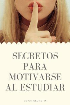 Te mostramos los secretos para motivarse y disfrutar del estudio. #motivación #estudio #estudiar #secreto