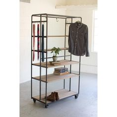 Doubled Rolling Storage Rack - Unique Modern Furniture - Dot & Bo
