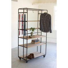 Doubled Rolling Storage Rack - Unique Modern Furniture - Dot & Bo