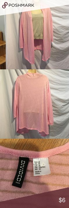 H&M Divided pink cardigan. Size medium. Make your day pop with this electric pink cardigan. H&M Sweaters Cardigans