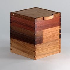 Wooden Keepsake Box of Cherry Walnut Maple by JMCraftworks on Etsy