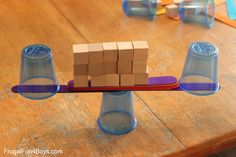 Challenge #4:  What can you build with just one cup as the base?   4 Engineering Challenges for Kids