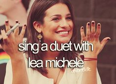 yes but no because she will like kill me with her amazing voice of hers. i would sound like a dead cat