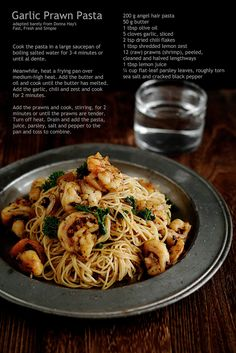 """Pinner said: """"Garlic Shrimp Pasta...made this tonight added white wine to the sauce then added the pasta to finish with everything. Delicious."""""""