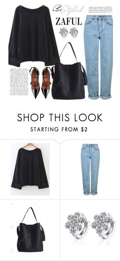 """""""Zaful 26"""" by merima-kopic ❤ liked on Polyvore featuring Topshop, RED Valentino and zaful"""