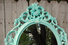 Mirror Shabby Chic Baroque Mirror Mint Green by TheVintageArtistry
