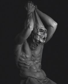 Skull And Bones, How Are You Feeling, Statue, Artwork, Photography, Stretching, Mars, Creatures, Work Of Art