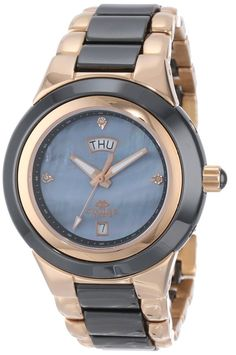 FREE US SHIPPING. Authentic Oniss ON435-LRG/BK Women's Watch Rose-Gold/Black High-Tech Ceramic And Stainless Steel. Authorized Watch Retailer.