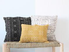 Mali mudcloth cushion. dar amïna shop.  Cojines de mali hechos a mano.