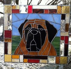 Custom pet stained glass