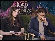 An interview with Liv Tyler and Orlando Bloom. When it gets to the 2:00 mark, watch Orlando's face. It's hilarious :D