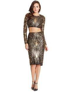Marciano - Anya Two-Piece Sequin Dress at Guess