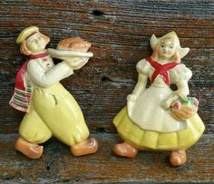 Vintage Chalkware Dutch Boy and Girl Wall Decor by EmptyNestVintage on Etsy