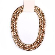 Collar de Oro Amplia exagerada cadena de la aleación para las mujeres para Vender - La Tienda En Online IGOGO.ES