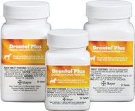 Drontal® Plus (praziquantel/pyrantel pamoate/febantel) Tablets  Drontal® Plus is a broad spectrum anthelmintic tablet to treat tapeworm, roundworm, hookworm and whipworm infections in dogs and puppies
