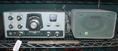 HERE IS THE PERFECT FIND FOR THE VINTAGE ELECTRONICS COLLECTOR - A VINTAGE HEATHKIT HW-100 SSB TRANSCEIVER AND HEATHKIT SB-600 VINTAGE SPEAKER.