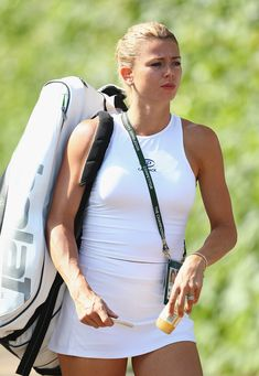 Camila Giorgi Photos - Camila Giorgi of Italy arrives for practise on the middle sunday ahead of the fourth round at All England Lawn Tennis and Croquet Club on July 2018 in London, England. - Camila Giorgi Photos - 95 of 607 Camila Giorgi, Lawn Tennis, Sport Tennis, Wimbledon, Tennis Live, Tennis World, Tennis Players Female, Tennis Tournaments, Girls Golf