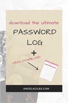 Download your free password login printable.  This password login printable is beautiful and perfect for the girl that loves pink haute stock colors.  Grab this gorgeous login password free printable.  #printable #freeprintables #passwordorganizerprintable #passwordtrackerfreeprintablelogs #bulletjournal #binder