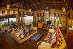 Inside one of the beach side #bungalows at the Aura Surf Resort in North Sumatra.
