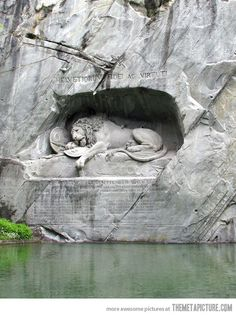 The Lion of Lucerne- built in memory of those Swiss Guard who died protecting the Tuileries during the French Revolution. Absolutely beautiful!