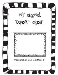 Ready to use animal report template for cute and easy non-fiction writing & science unit