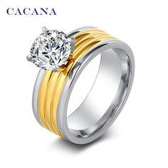 2016 CACANA Top quality rings for women  18k gold plated fashion jewelry wholesale NO.R111♦️ B E S T Online Marketplace - SaleVenue ♦️👉🏿 http://www.salevenue.co.uk/products/2016-cacana-top-quality-rings-for-women-18k-gold-plated-fashion-jewelry-wholesale-no-r111/ US $0.83