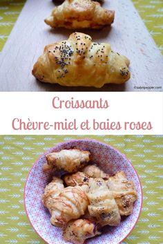Des croissants au chèvre miel et baies roses pour l'apéero