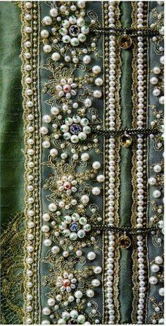 Русская вышивка жемчугом/ Russian embroidery pearls
