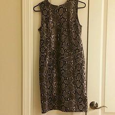 Michael kors size 2 snakeskin zipper dress Michael kors size 2 snakeskin zipper dress MICHAEL Michael Kors Dresses