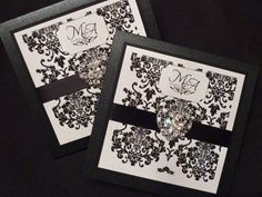 Love this front cover for a pocket fold invite, might be the perfect idea for Julie's wedding!