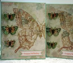 Stampin' Up! Swallowtail and Hero Arts and Sizzix butterflies