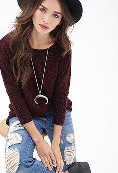 Slub Knit Dolman Sweater   FOREVER 21 - 2000121215