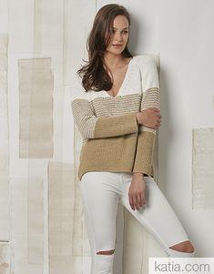 Recycle Jeans, Striped Knit, Sweater Weather, Pulls, Mantel, Knitwear, Sweaters For Women, Knitting, Crochet