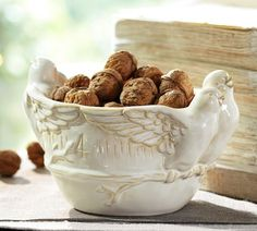 Four Calling Birds Serve Bowl from Pottery Barn