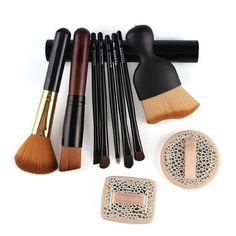 10pcs Makeup Brushes Set Kit Pro Foundation Powder Concealer Contour