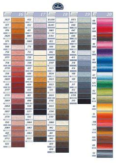 Borduurpatroon Allerlei & Vanalles ~Kleurkaart DMC garen *Color Map Embroidering Thread~ Op KLEUR 2/5~