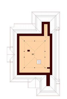 DOM.PL™ - Projekt domu DN Verona CE - DOM PC1-13 - gotowy koszt budowy Beautiful House Plans, Beautiful Homes, Bungalow House Design, Ibiza, Verona, My House, Dom, How To Plan, Inspiration