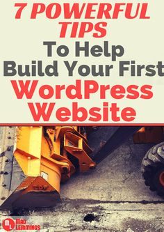 Learn some simple yet powerful tips to help you build and tune your first WordPress website. #WordPress #website