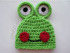 Stitch11 Frog Hat :: Free Crochet Frog Patterns! Hop to it!