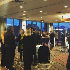 #CCAC Distinguished Alumni honorees gather in the VIP lounge awaiting the start of the #CCAC50gala.