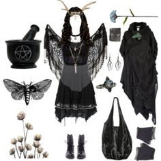"""*Dark Mori Outfit*"" by pagana on Polyvore"