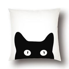 Amazon.com - YELLONION™ Cat Kitten Kitty Cotton & Polyester Square Decorative Throw Pillow Case Cover with Zipper, Home Decor Cushion Case 18x18 Inch(Size Can Be Customized) -