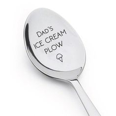 Dads Ice Cream Plow With Little Cone Spoon,Personalized spoon,Perfect gift for dad,Perfect Gift for Ice Cream Lover,Special Lifelong Gift  A