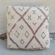 'X's and O's'  MOROCCAN FLOOR PILLOW