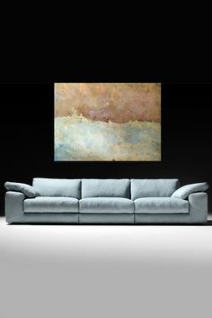 Todays team favourite artwork is High Wealed' by Sam Peacock. Oils and varnish on steel… teamed with this outrageously comfortable pale linen sofa