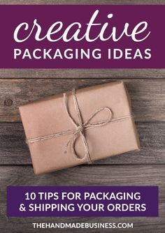10 Tips for Creative Packaging Ideas - great advice for repeat customers & branding your business. 10 Tips for Creative Packaging Ideas - great advice for repeat customers & branding your business. Branding Your Business, Etsy Business, Business Gifts, Craft Business, Creative Business, Business Advice, Business Products, Business Opportunities, Unique Business Ideas