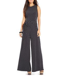 aab427b4da52 Lauren Ralph Lauren Jumpsuit - Wide Leg Polka Dot EDITORIAL - Women s New  Arrivals - Clothing - Bloomingdale s