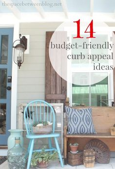14 budget friendly curb appeal ideas to implement today. This post includes all of the before and afters, a truly incredible transformation.
