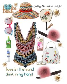 """""""beach bum"""" by k-fuentesthestylist on Polyvore featuring Missoni Mare, Neutrogena, MCM, Gucci and Casetify"""