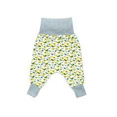 Flexi Harem pants for babies and toddlers. Sizing grows with your baby.